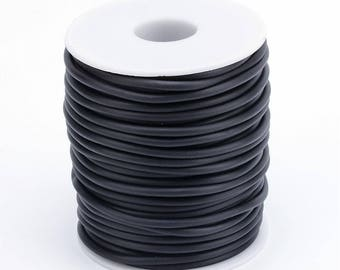 2mm hollow flexible PVC tubing, 1mm hole, Black color,10 feet, black PVC tubing, 2mm PVC tubing, craft tubing, stringing, Pvc cord
