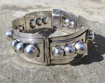 Taxco Bracelet,Mexican Silver Bracelet,Mexican Silver,Mexican Silver Jewelry,Taxco Jewelry,Vintage Taxco Silver,Vintage Taxco Link Bracelet