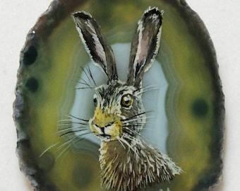 Hare Agate Pendant