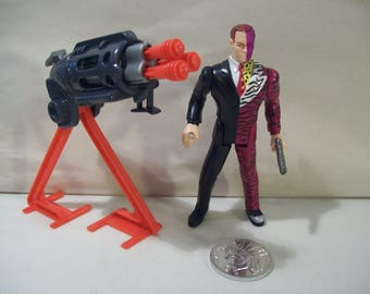 Vintage Batman Forever Two-Face Action Figure, 1995, DC Comics, Kenner, New