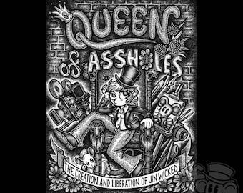 Original Comic Artwork: Queen of Assholes Front Book Cover