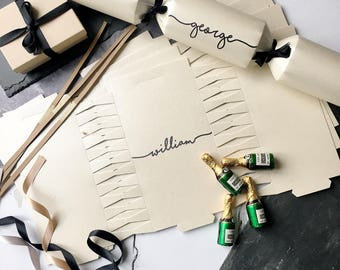 Luxury Christmas Cracker Kit - Make your own crackers - Name place settings - Table Decorations - Place Card Alternatives - Winter Wedding
