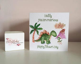 Dinosaurs Fathers Day Card