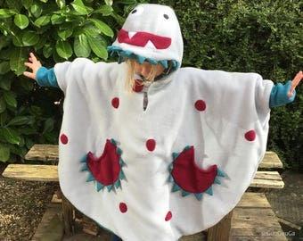 Autumn Spring Poncho Coat Monster for Kids