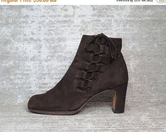 40OFF Vtg Brown Nubuck Leather Suede Laceup Boots