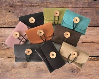 Leather Pouch, Credit Card Wallet, Leather Card Case, Leather Wallet, Leather Card Holder, Rosary Case, Leather Case, Coin Purse