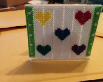 Primary hearts Napkin Holder Cover