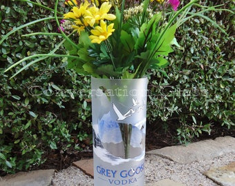 Recycled Grey Goose Vodka Bottle Vase XL