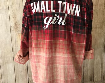 Upcycled Flannel - Small Town Girl