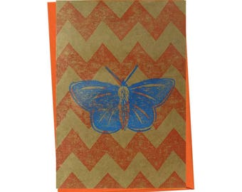 Insect Common Blue Butterfly Entomology Natural History Blank Card - Free Postage
