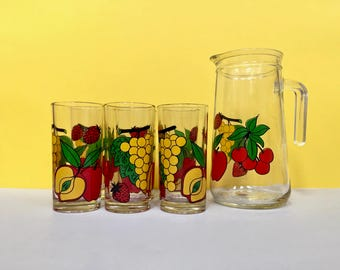 Drink set! Hi-ball glasses and pitcher, set of seven - made in Italy by Covetro