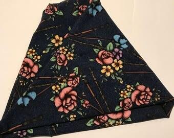 Floral Wand 4 in 1 Headband - Neck Warmer - Messy Bun Hat - Ear Warmer