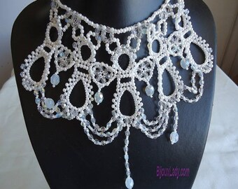 White Pearl Necklace Victorian