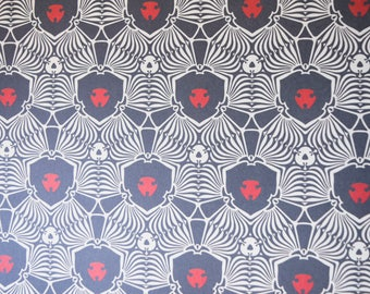 Decoupage Paper,  Art Deco Design, Black, Red and White, Decorative Paper, Collage, Craft Paper, Art Deco. Wrapping Paper 8.5 x 11