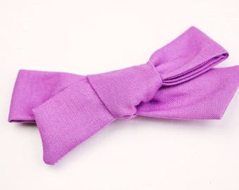 Violet Hand Tied Bow, Alligator Clip, School Girl Bow, Big Girl Bows, Infant Bow, Hair Accessories, Valentine's Day Bow
