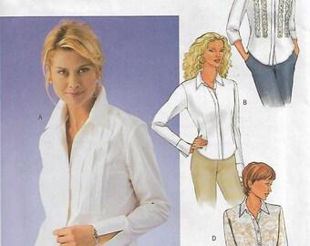 Butterick 3535 Size 18-20-22 Bust 40-42-44 Misses' Shirt Sewing Pattern 2002 Uncut