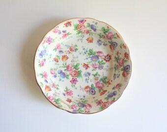 Vintage German Dorsett Chebry Chintz Erphila 6567 Decorative Chintz Plate