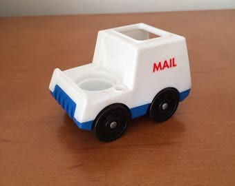 Vintage Fisher-Price Little People Mail Truck