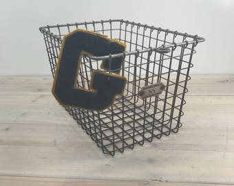 Wire Locker Basket Vintage