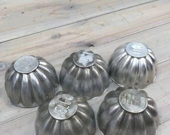 Vintage Jello Molds Tin