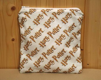 One Sandwich Bag, Reusable Lunch Bags, Waste-Free Lunch, Machine Washable, Harry Potter, Sandwich Sacks, item #SS81