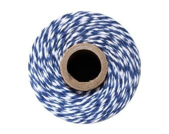Blue and White Bakers Twine - Midnight Twist - 240 Yard Spool