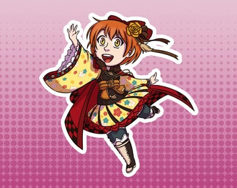 LLSIF Love Live School Idol Festival / Schol Idol Project - Rin Hoshizora Taisho Roman Large Die Cut Vinyl Fan Art Sticker