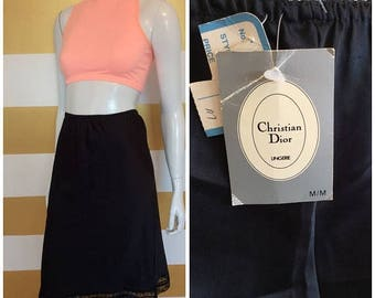 30% OFF NWT Vintage 80s 90s CHRISTIAN Dior Slip Skirt - High Waisted - M - New Old Stock