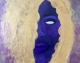 Purple Goddess Original Painting