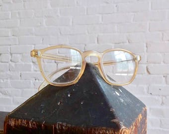 50s American Optical vintage retro reading prescription glasses eyeglasses clear wayfarer style frames