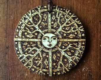 Sun-An original Wood Burning picture, decoration