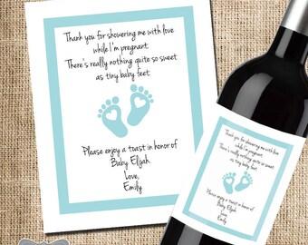 Shower Hostess Gift, Baby Shower Thank You, Gift For Hosting Baby Shower,  Wine