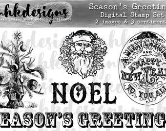 Season's Greetings Digital Stamp Set