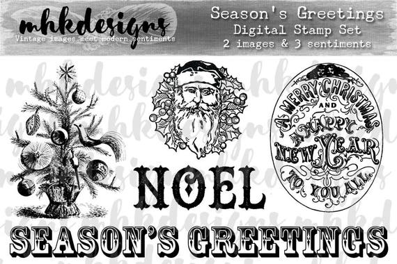 Season's Greetings Digital Stamp Set