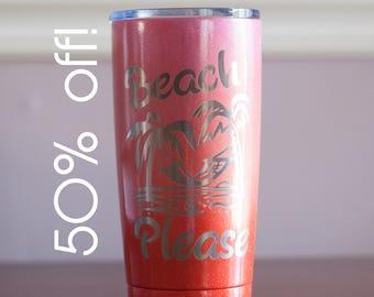 Sample Sale!  Beach Please Coffee Travel Mug