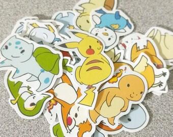 Pokemon Starters - Sticker Pack
