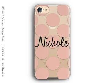 iPhone X Case, iPhone 8 Case, iPhone 8 Plus Case, iPhone 7 Case, iPhone 6, Monogram Case, Polka Dots, Galaxy S8 Case, Samsung Galaxy Case
