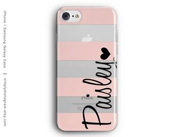 iPhone 8 Case, iPhone 8 Plus Case, iPhone X Case, iPhone 7 Case, iPhone 6, Monogram Case, Samsung Galaxy Case, Stripes, Galaxy S8 Case