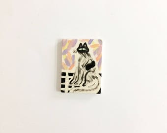 Cat on the mat mini tile