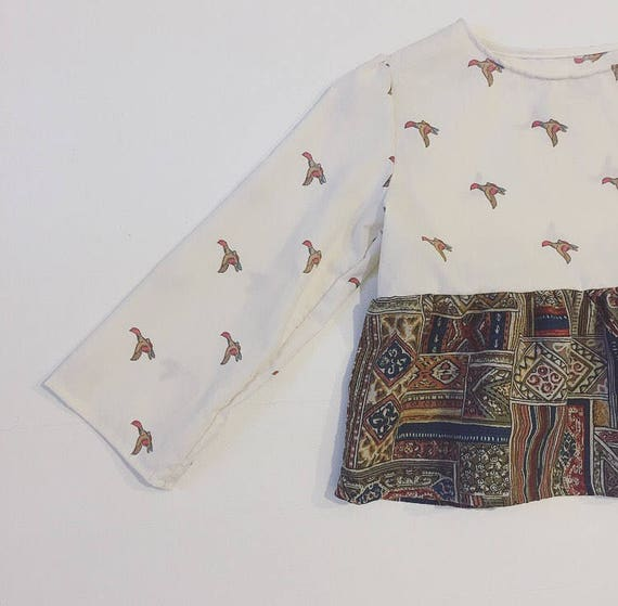 Awesome Flocking Duck Hippie Top • Hippie Top • Girls long sleeve • New Vintage