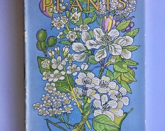 British Plants, Charming Cover, Botanical Illustrations, H L Edwin, 1951 First Edition, Black White Plates, Garden Library Prop Display Gift