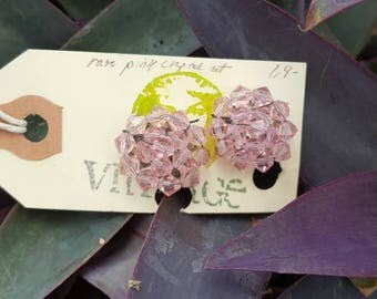 Pink Vintage Glass Earrings