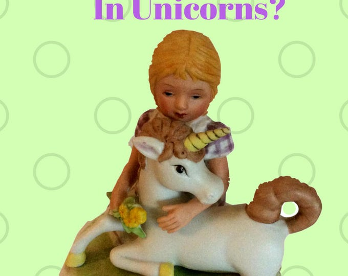 Unicorn Gift For Children, Music Box, Vintage Aldon Ceramic , Gift For Her, Gift For Little Girl