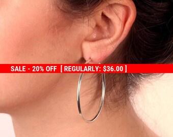 SALE 20% OFF gold hoop earrings, simple hoop earrings, gold filled hoops, dainty earrings,minimalist gold earrings,gift for her - 21065