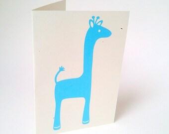 """""""Blue Giraffe"""" card"""