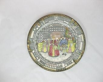 Vintage Decorative Plate,Queen Elizabeth Royal Doulton Plate, Old Moreton