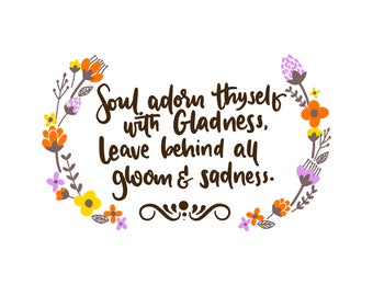 Soul Adorn Thyself with Gladness
