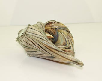 Large Hand blown glass Sea Shell