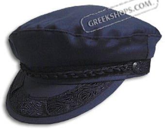 Greek Fisherman's Hat - Cotton - Navy