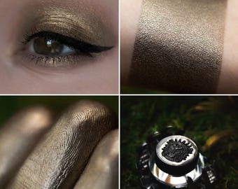 Eyeshadow: Arranging the Traps - Mountain Thorp. Cold brown satin eyeshadow by SIGIL inspired.